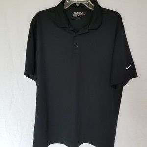 Nike Golf Men's black polo dri-fit shirt